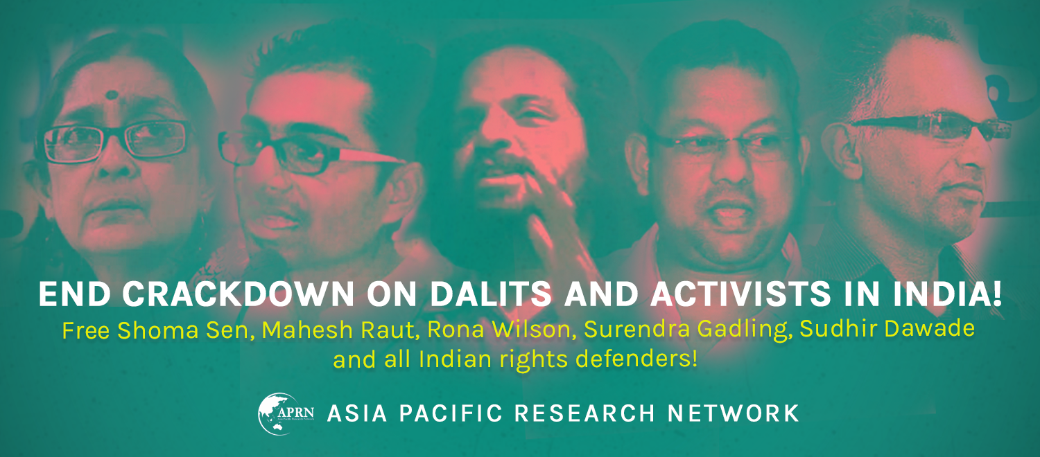 End crackdown on Dalits and activists in India